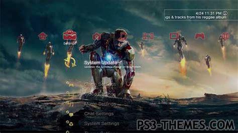 theme psp iron man ps3 themes 187 iron man 3 dynamic