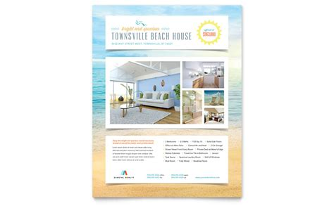Beach House Flyer Template Word Publisher Microsoft Publisher Flyer Templates Free