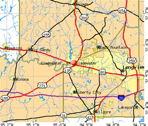 gladewater texas map gladewater texas tx 75647 profile population maps real estate averages homes statistics