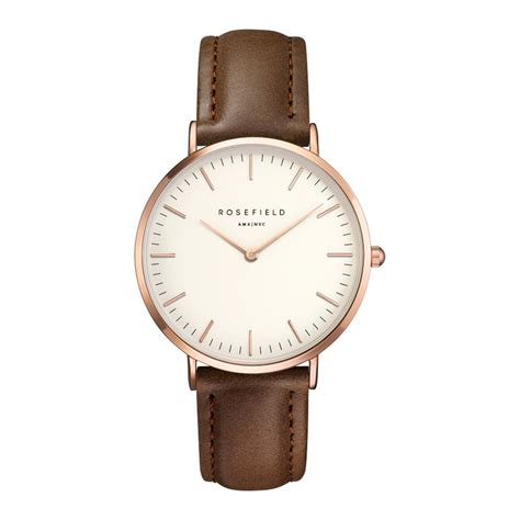 Ck Ck099 Brown Rosegold rosefield the gramercy white brown gold uhr bwbrr b3