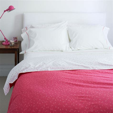 Reversible Duvet Cover Pink Flutter Reversible Duvet Cover
