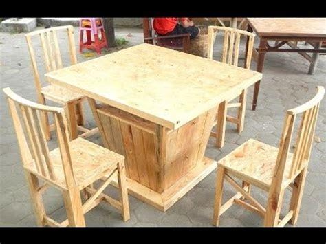 Meja Makan Kayu Pallet meja makan kayu pallet desainrumahid