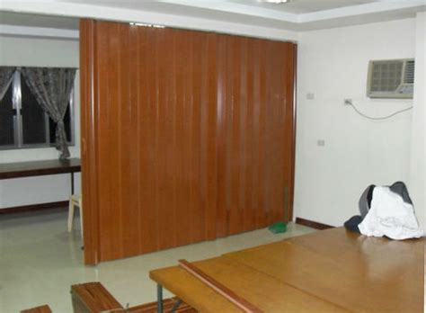 Accordian Blinds accordion door as room divider installation at