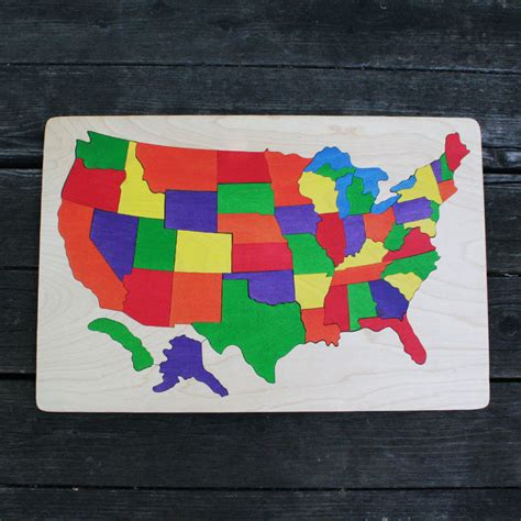usa map puzzle usa wooden map puzzle the puzzle