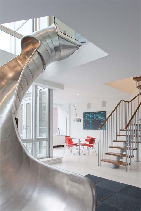 metal sliding staircase inspiration homedesignboard