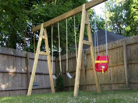 easy swing simple swing set plans woodwork city free woodworking plans