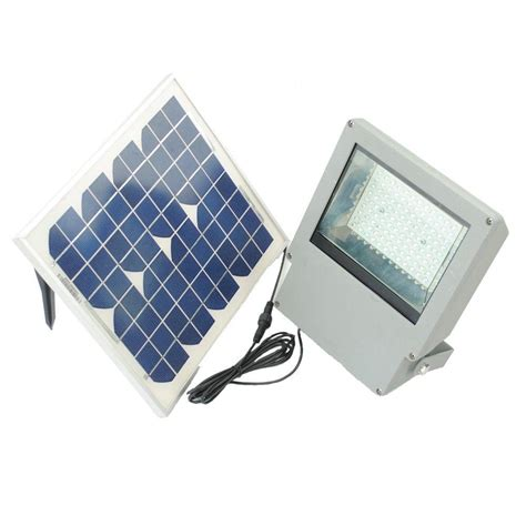 green led flood light solar goes green solar integrated led gray outdoor flood