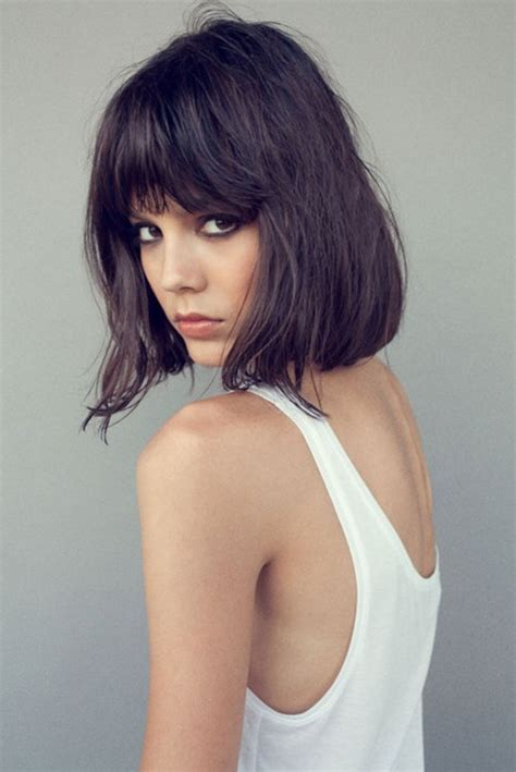 wavy bob on pinterest bangs bobs and wavy bobs