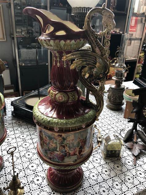 vasi in ceramica antichi coppia di vasi antichi in ceramica mercatino di asti