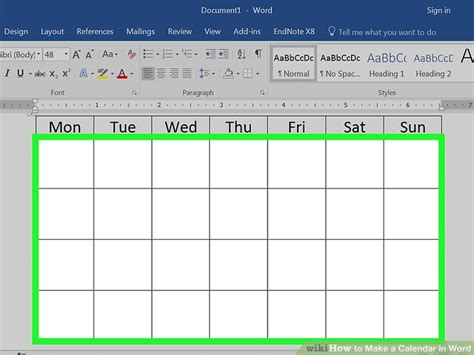 how do you make a calendar in word how to make a calendar in word with pictures wikihow