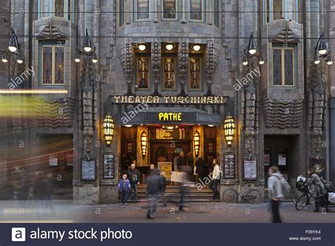 The Entrance Of A Cinema Hotel Or Theatre Entrance Of Theatre Tuschinsky Deco Cinema In