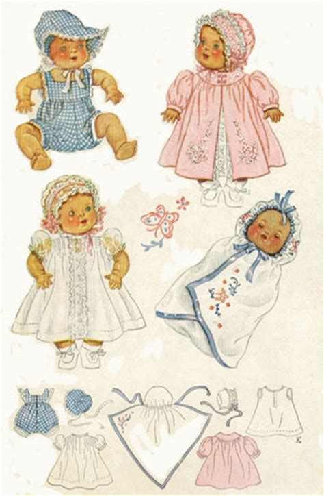 vintage baby doll clothing pattern 632 ebay