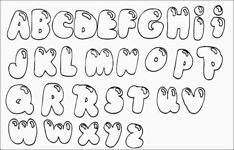 printable font names printable bubble letter names sle letter template