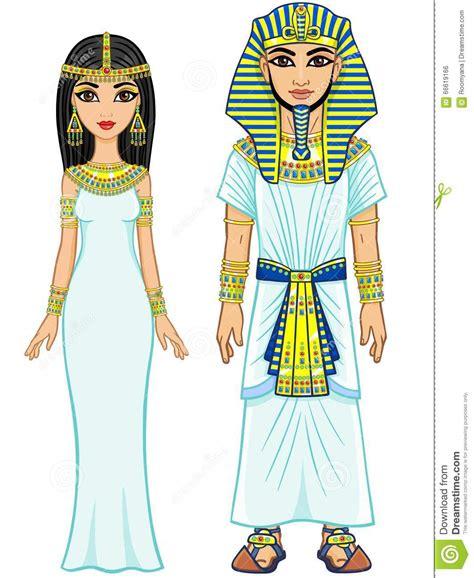 alte kleidung 196 gyptische kaiserfamilie der animation in der alten