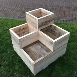 wooden garden planter window box trough ebay