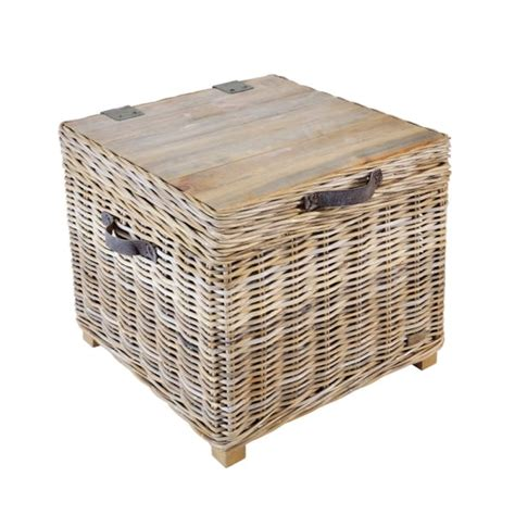 rattan side tables living room rattan storage trunk side table with storage curiosity interiors