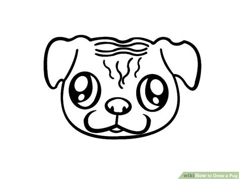 pug pictures to draw how to draw a pug 7 steps with pictures wikihow