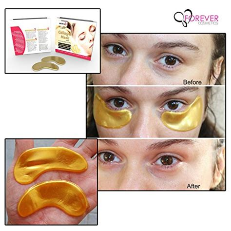 Collagen Gold Eye Mask 10 x pack new 24k gold powder gel collagen eye