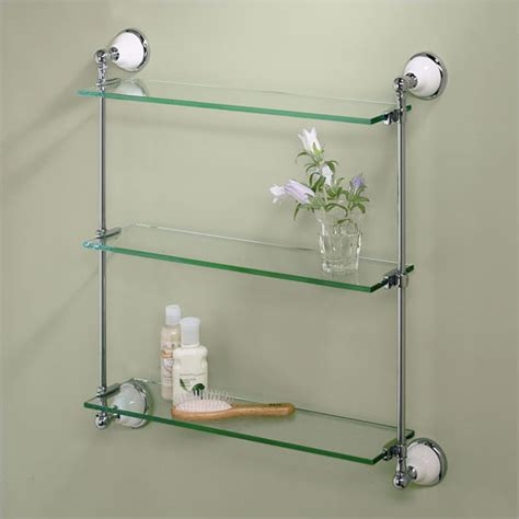 glass bathroom wall shelf the different types that available in bathroom shelves
