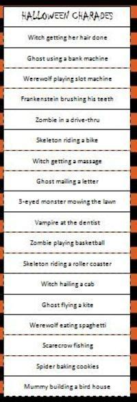 halloween charades free printable halloween game the free printable halloween charades game a fun party or