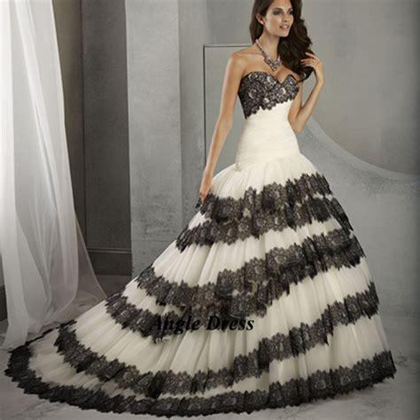 Wedding Dress White Black Lace   Junoir Bridesmaid Dresses