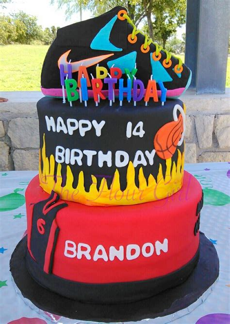 teen boy lebron james miami heat shoe cake  flour girl cakes pinterest shoe cakes