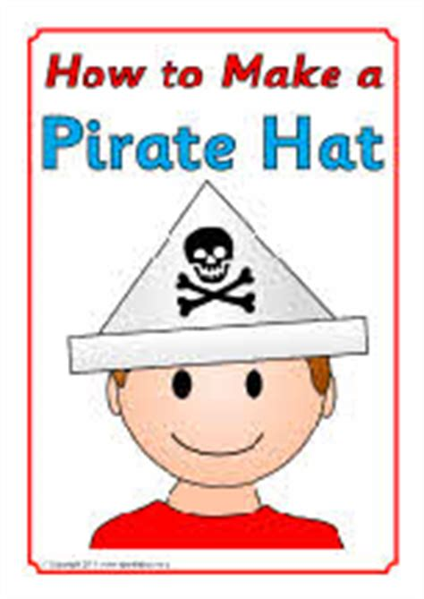 How To Make A Pirate Hat Out Of Paper - how to make a pirate hat sb4195 sparklebox