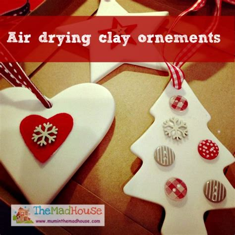 air drying clay ornements mum   madhouse