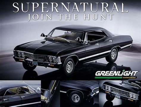 supernatural 1967 chevy impala model green light collectibles 1 18 chevrolet impala diecast
