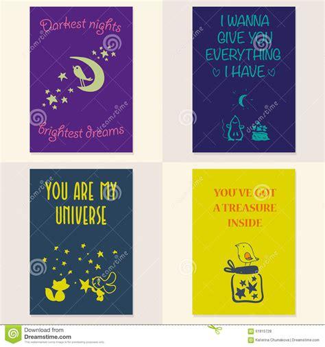 set of beautiful cards vector cartoondealer