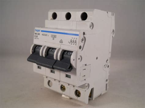 Mcb 3 Pole 20 Ere Bcb63c20 Mcb hager mcb 20 pole 3 phase circuit breaker type b 20a 462320 nb320 willrose