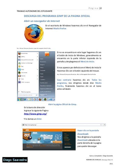 pagina oficial de 2 descarga de gimp 2 6 de la pagina oficial