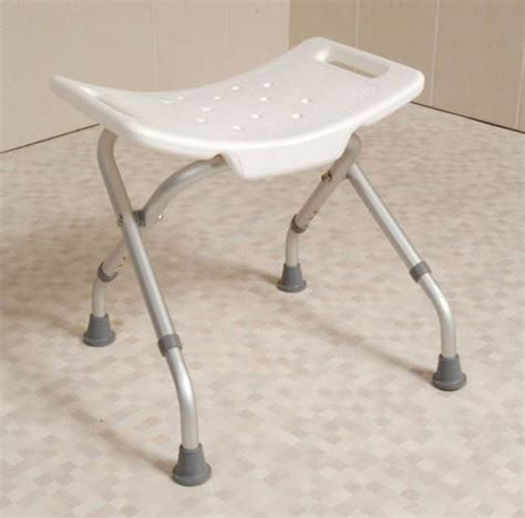easy folding travel portable shower stool bathroom seat ebay