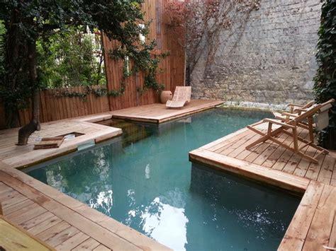 piscine bois hors sol sur mesure cagne jardin
