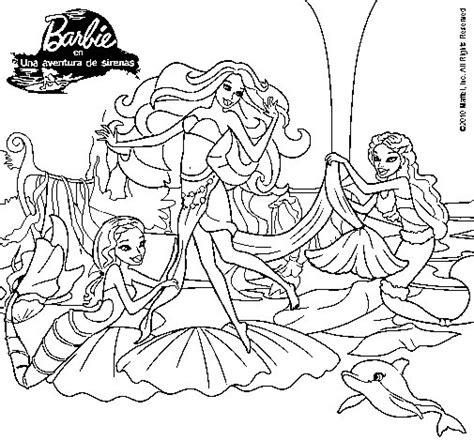dibujos para colorear de barbie sirena y su delf n dibujo de barbie con sirenas para colorear dibujos net
