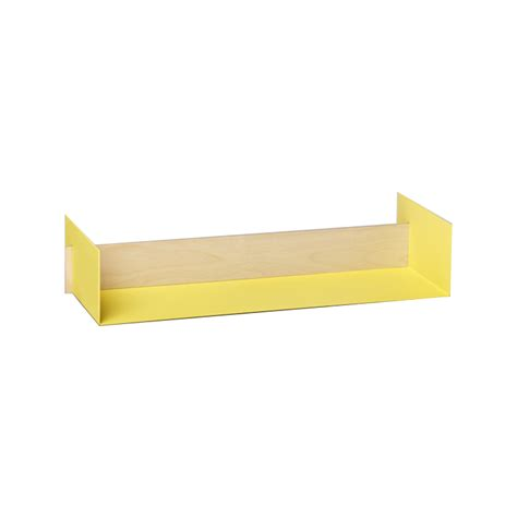Yellow Wall Shelf by Leo Naknak Beam Wall Shelf Small Yellow