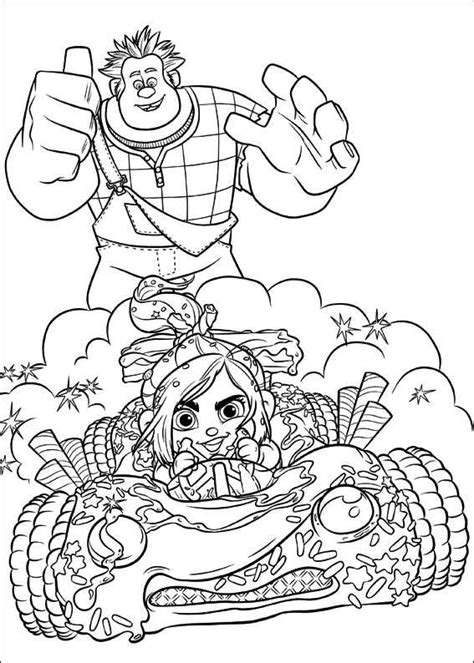 coloring pages wreck it ralph kids n fun com 40 coloring pages of wreck it ralph