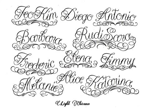 tattoo fonts names cursive cursive fonts images for tatouage