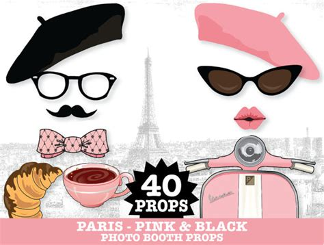 free printable paris themed photo booth props paris photo booth props sweet 16 parisian por