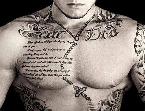 tattoos gallery for men chest tattoos for amazing