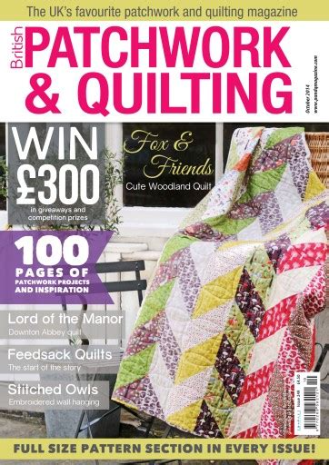 Quilting And Patchwork Magazine - patchwork and quilting magazine october 2014