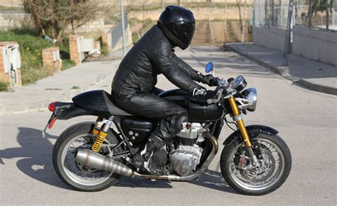 bob barbour honda motorcycle triumph tracker and