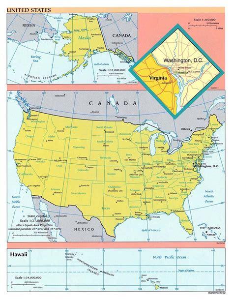 continent des etats unis carte