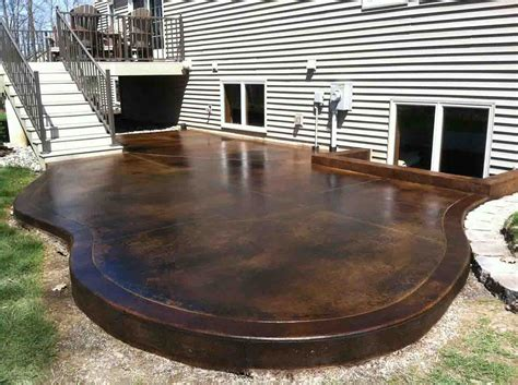 Stained Concrete Patio Pictures - black acid stain photo gallery directcolors