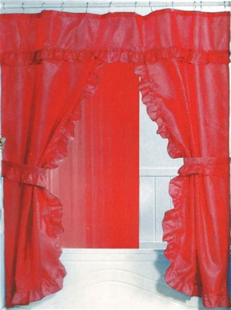 red double swag shower curtain double swag shower curtain promotion october 2011