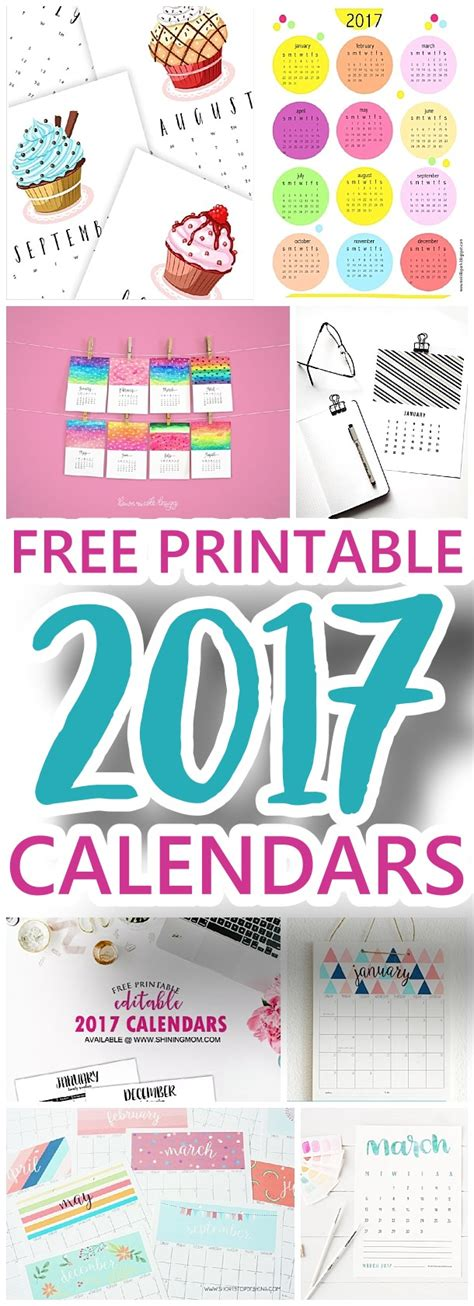 38 best diy printable 2017 calendars images on the best free printable calendars for 2017 organization and planning editable portrait