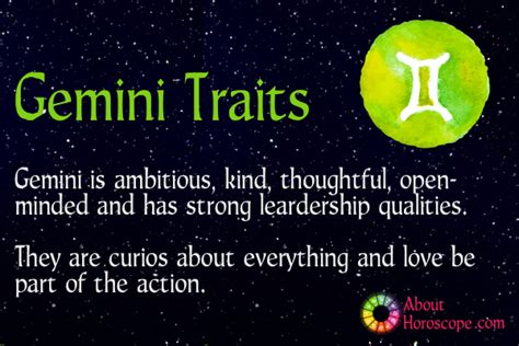 gemini traits personality and characteristics