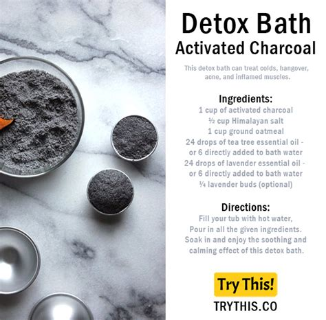 Activated Charcoal Carbon Detox by Top 25 Detox Bath Recipes Tips