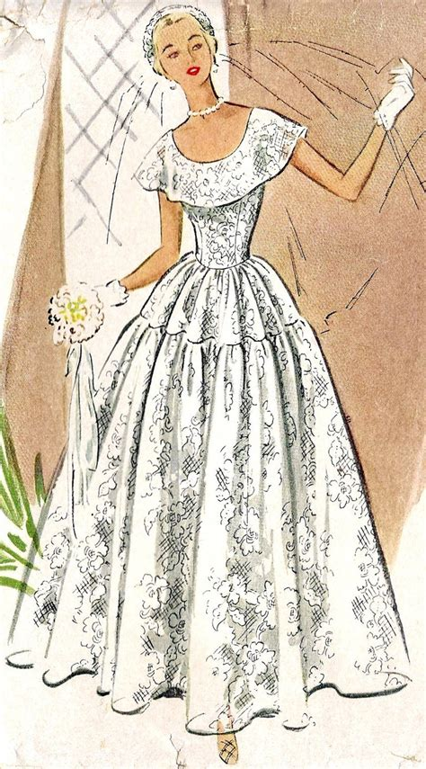 vintage pattern wedding dress 1000 images about vintage sewing patterns on pinterest