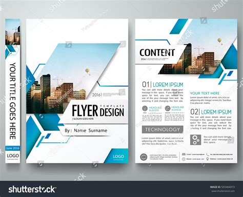 poster layout software brochure design template vector blue abstract 스톡 벡터